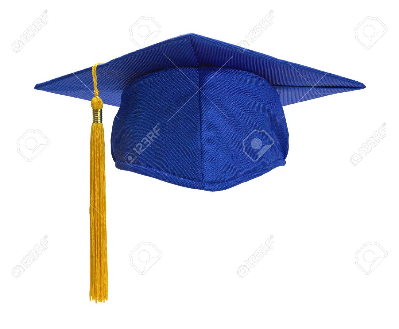 blue graduation hat with