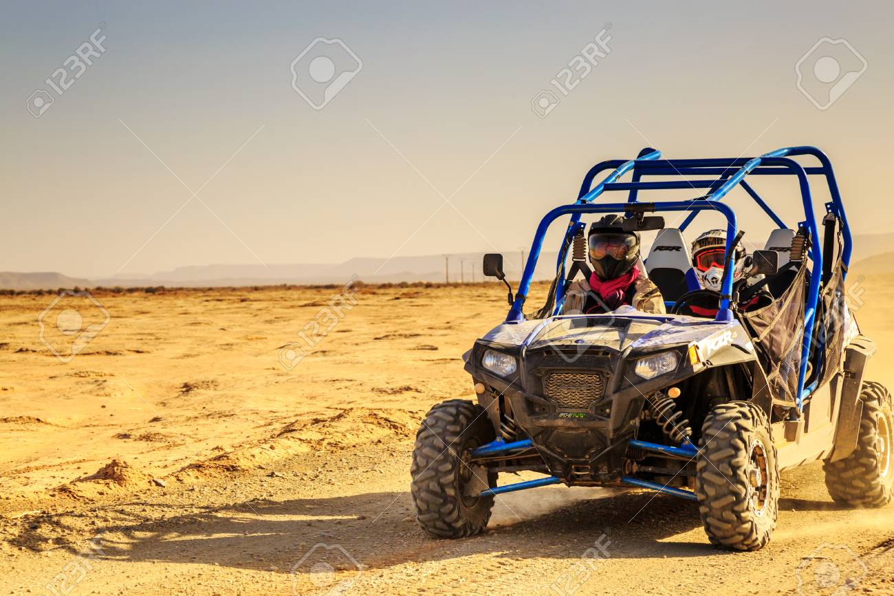 hight resolution of merzouga morocco feb 24 2016 front view on blue polaris rzr 800