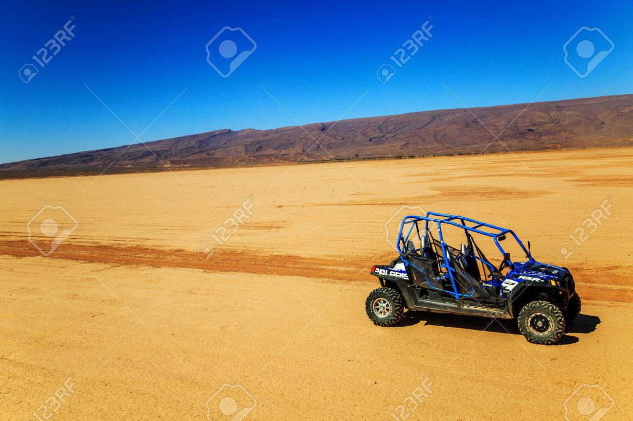 hight resolution of merzouga morocco feb 22 2016 blue polaris rzr 800 with no pilot