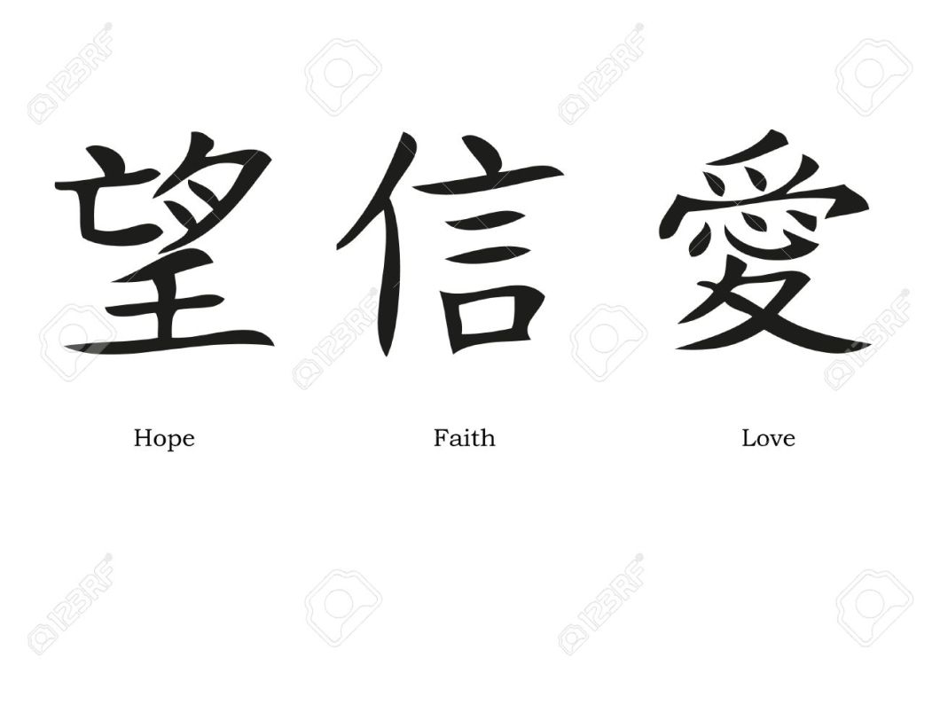 Faith In Chinese Letters Creativeletter
