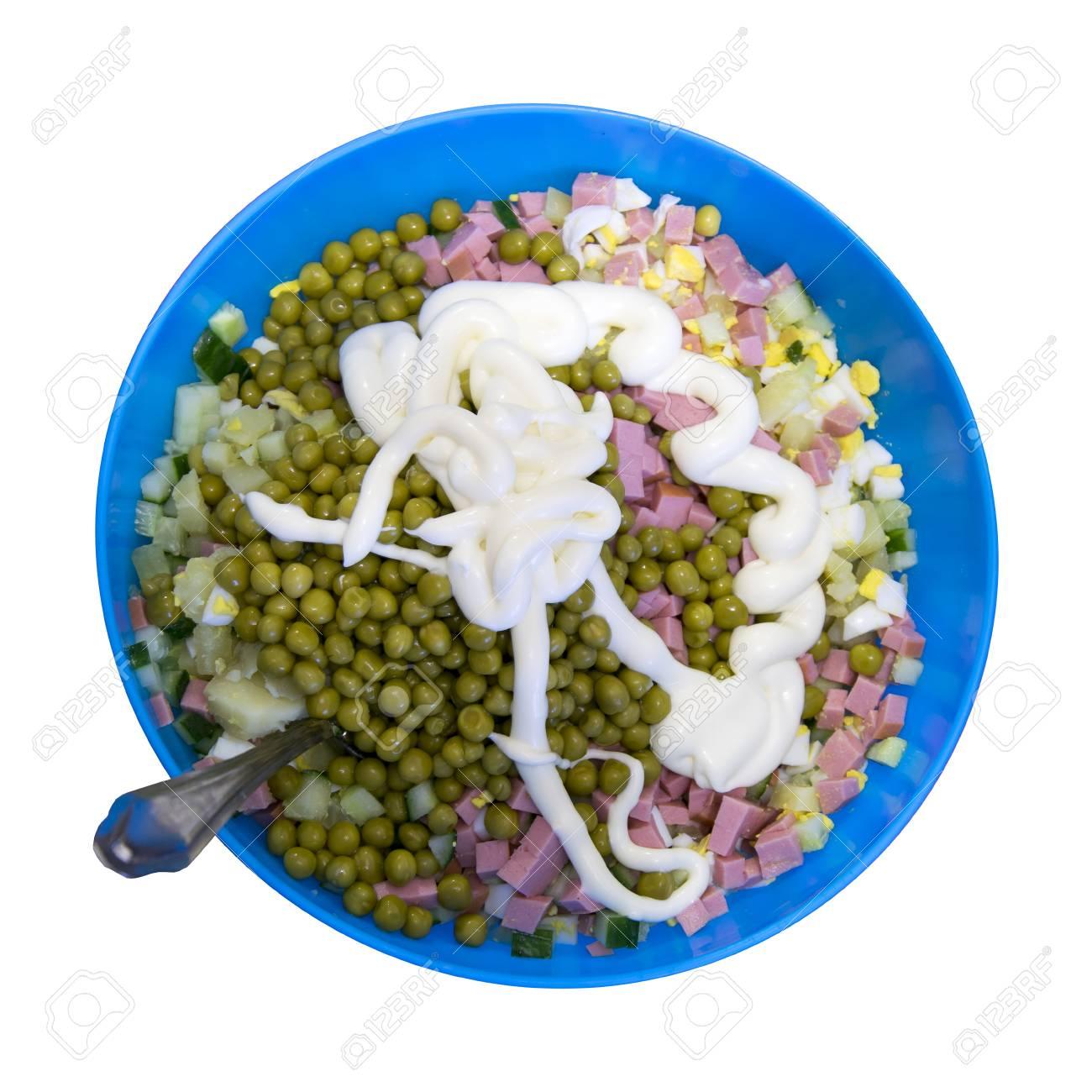 salad top angle view