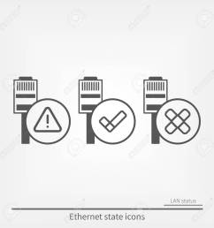ethernet connection icons set stock vector 94585643 [ 1300 x 1300 Pixel ]