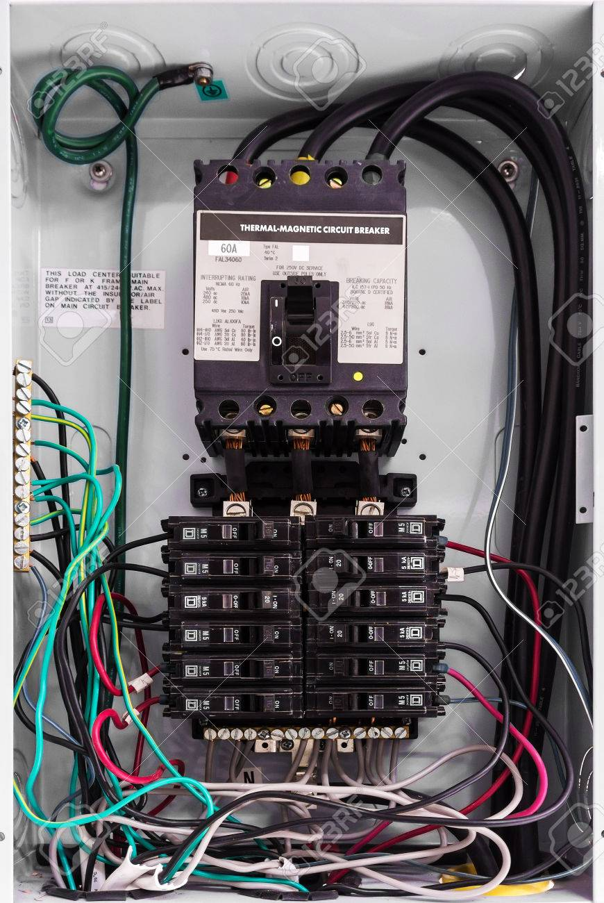 hight resolution of electricity circuit breakers fuse box stock photo 28231678