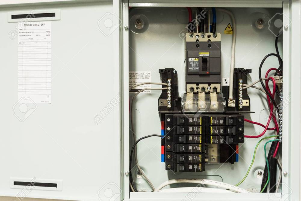 medium resolution of electricity circuit breakers fuse box stock photo 29454539