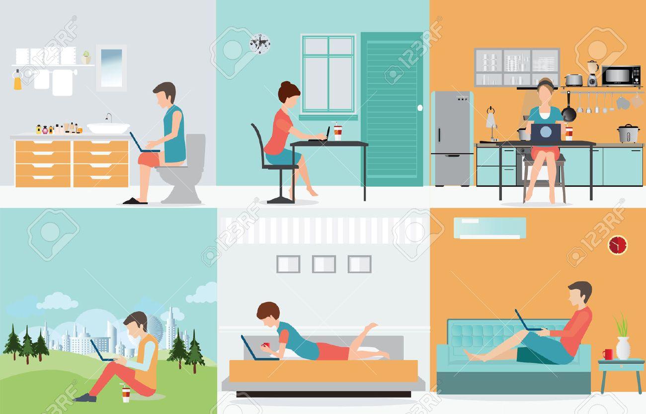 la gama de trabajos en el hogar es muy grande a partir de trabajo clerical puro como la entrada de datos trabajos de copia de pasta a los asistentes
