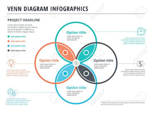 small resolution of vector venn diagram with 4 circles infographics template design vector overlapping shapes for set or logic graphic illustration