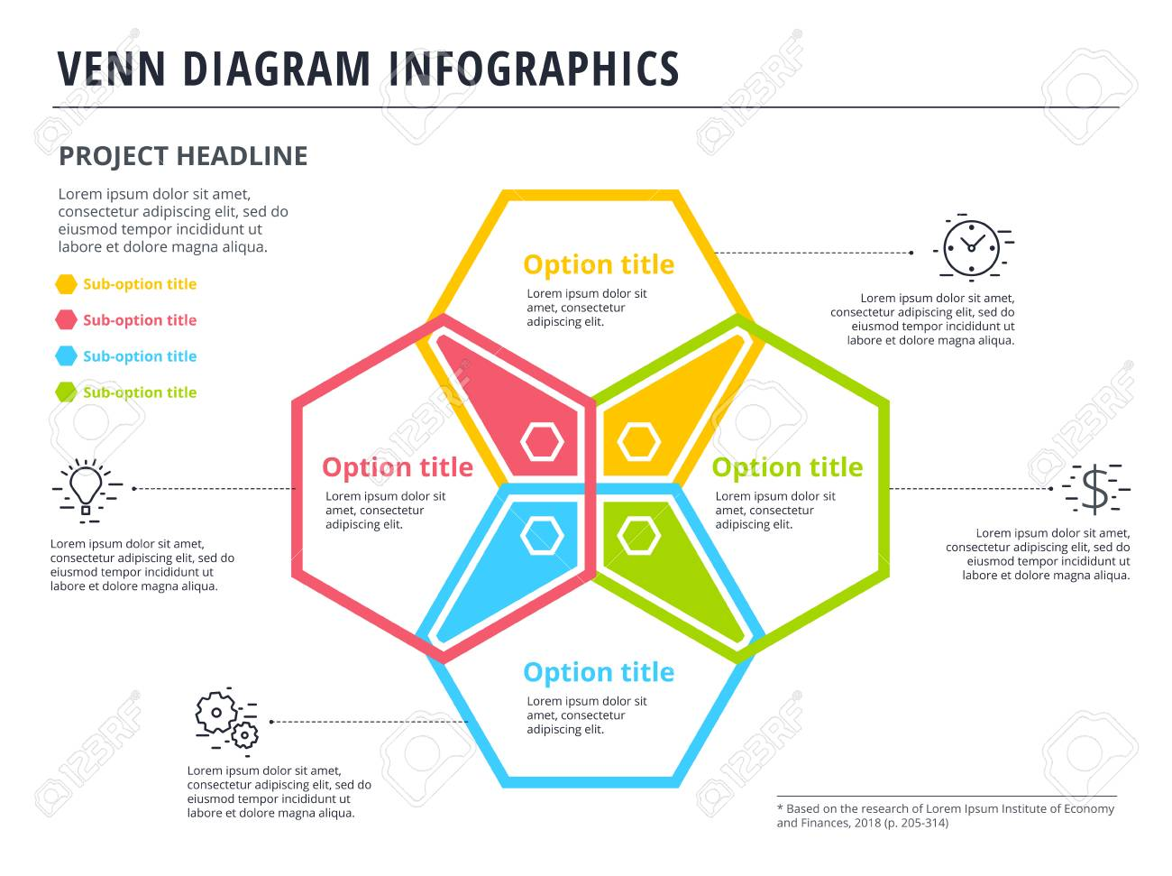 hight resolution of vector venn diagram with 4 circles infographics template design vector overlapping shapes for set or logic graphic illustration