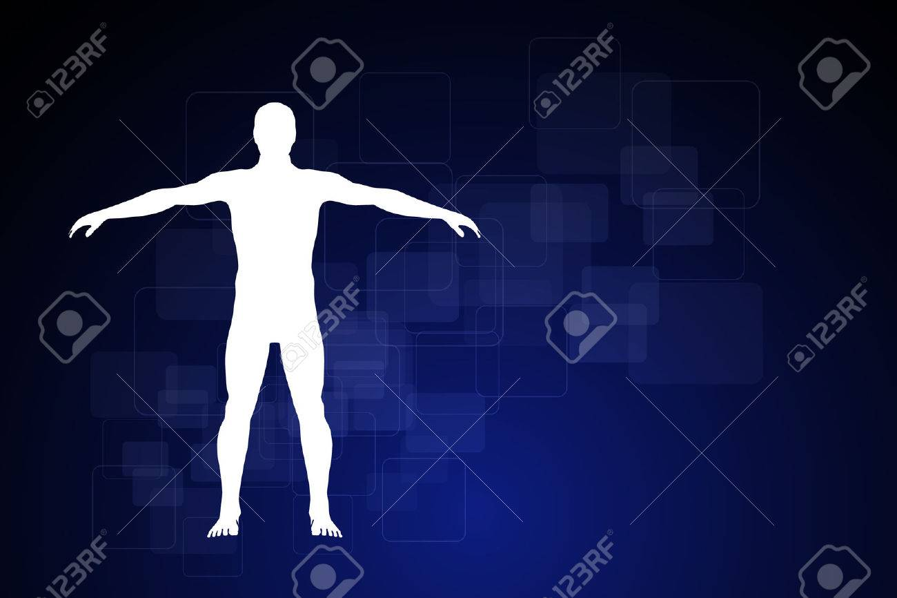 hight resolution of schematic description of the human body stock photo