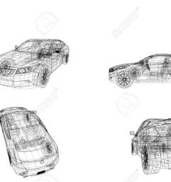 car model body structure wire model stock photo 96412100 [ 1300 x 826 Pixel ]
