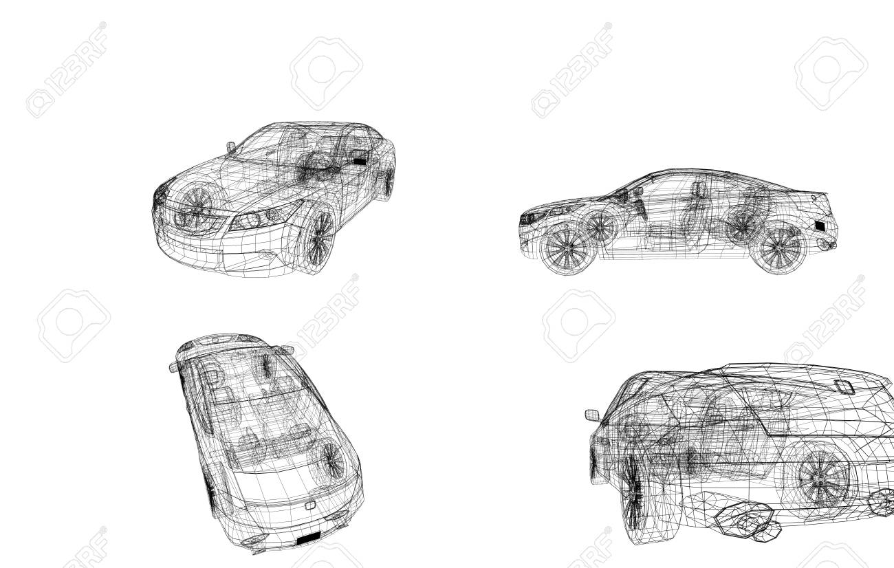 hight resolution of car model body structure wire model stock photo 96412100