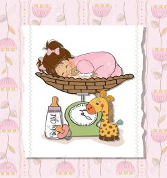 beautiful baby girl on on weighing scale stock vector 13747340 [ 1298 x 1300 Pixel ]