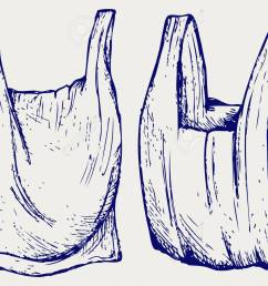 various plastic bags doodle style stock vector 37002196 [ 1300 x 985 Pixel ]