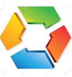 business process flow presentation hexagon loop diagram stock vector 24468320 [ 1300 x 1300 Pixel ]