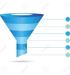 funnel diagram process chart filter stock vector 39489845 [ 1300 x 1300 Pixel ]