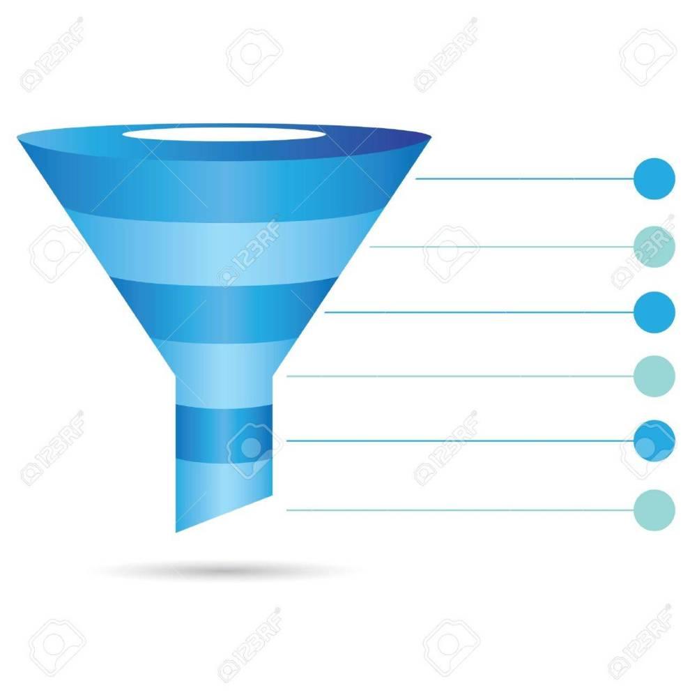 medium resolution of funnel diagram process chart filter stock vector 39489845