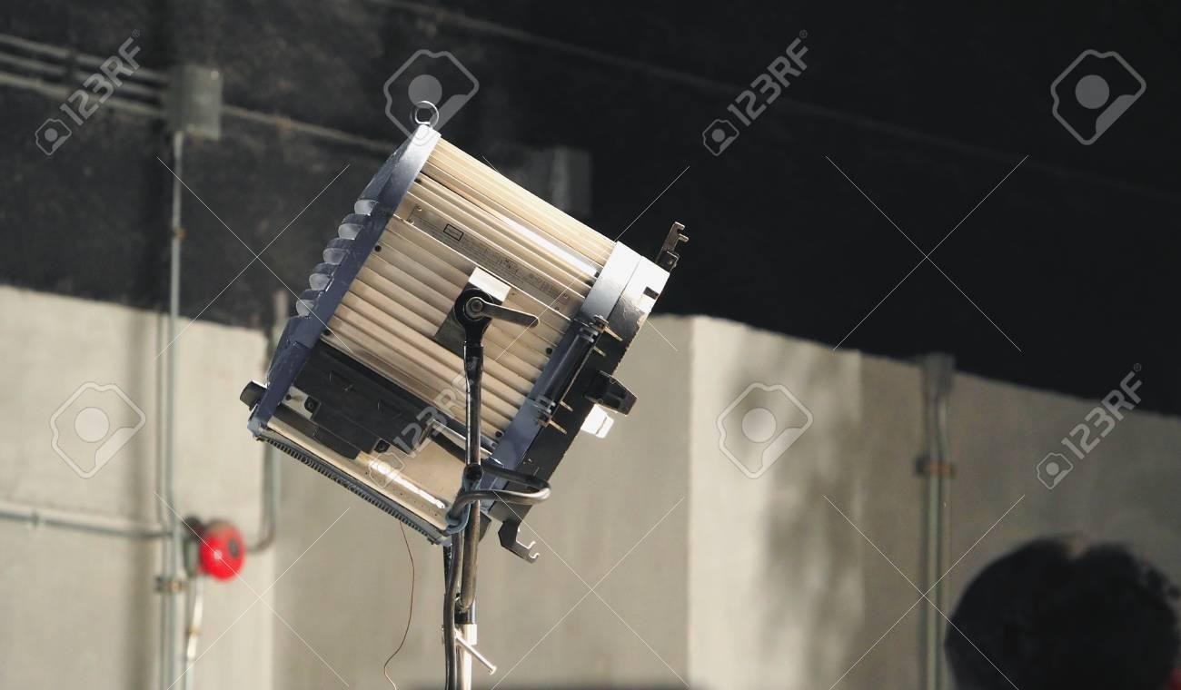 big spotlight or lighting equipment for film movie or vdo shooting