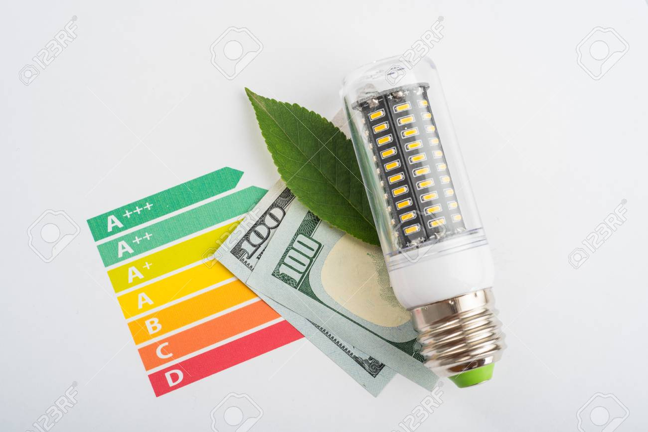 hight resolution of led is energy saving lamp for save money eco concept led lamp chart