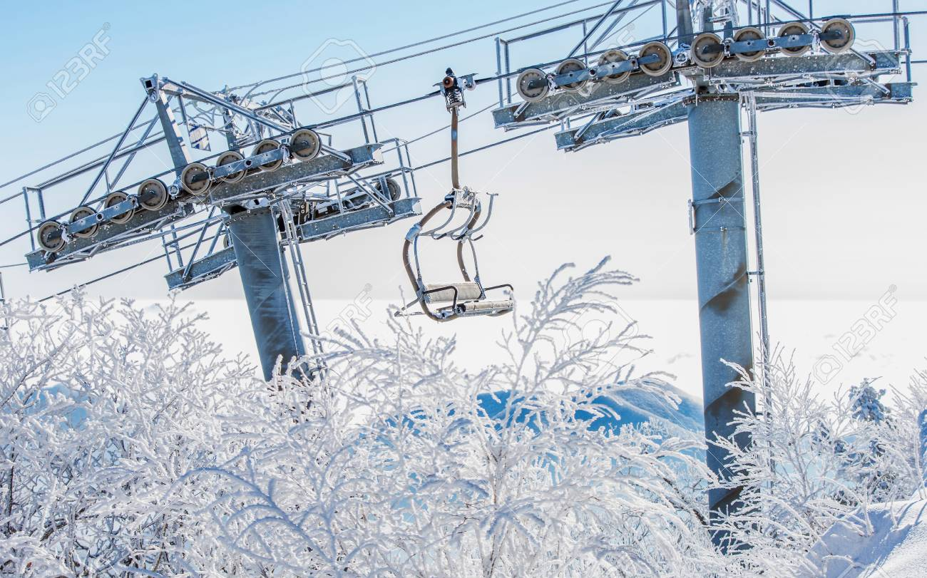 ski chair lift director covers home depot is covered by snow in winter korea stock photo 48863158