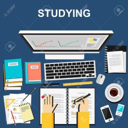 Studying Illustration Studying Concept Flat Design Illustration Royalty Free Cliparts Vectors And Stock Illustration Image 41627437