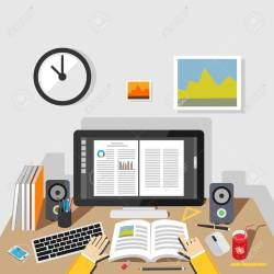 Studying Illustration Studying Concept Flat Design Illustration Royalty Free Cliparts Vectors And Stock Illustration Image 44040246