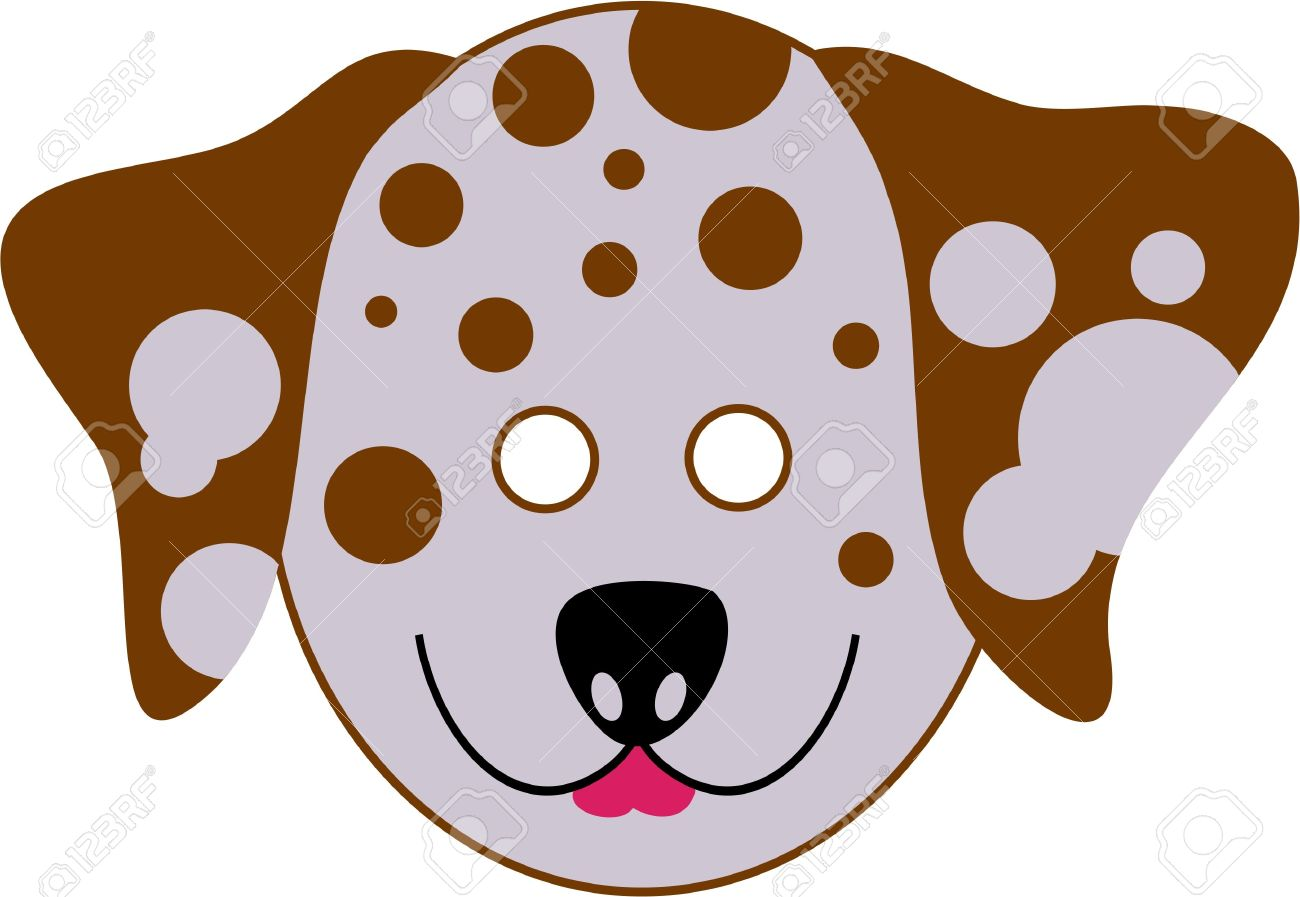 spotty dalmation dog cutout