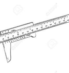vector vernier caliper isolated on white [ 1300 x 787 Pixel ]