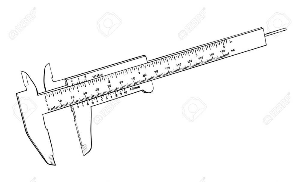 medium resolution of vector vernier caliper isolated on white