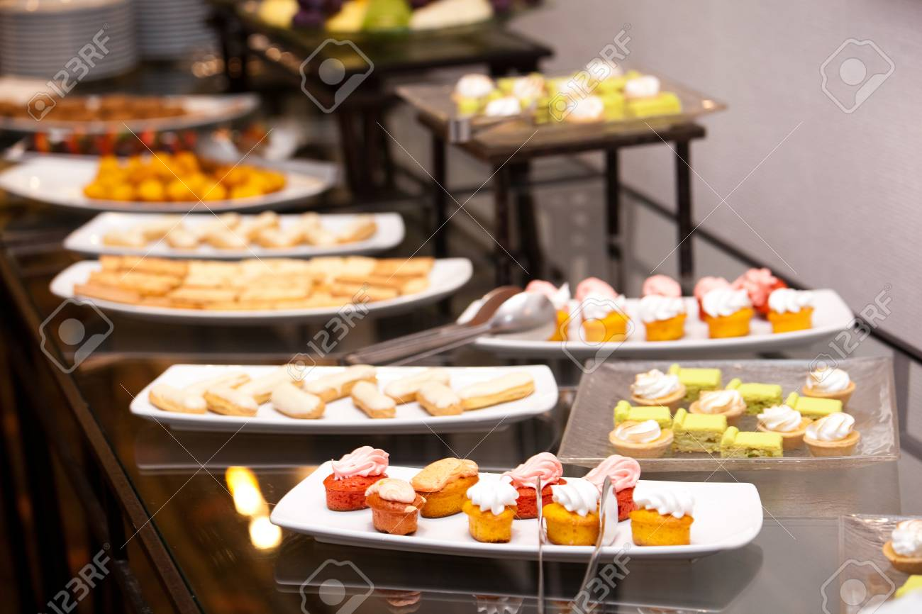 english breakfast in hotel restaurant snacks and sandwiches