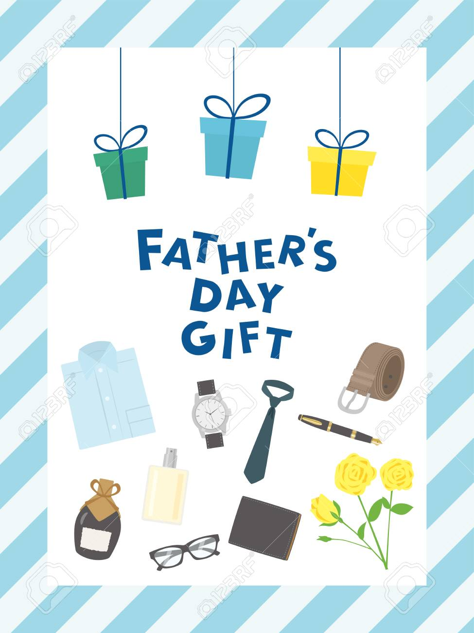 hight resolution of father s day gift advertisement vector poster stock vector 99120754