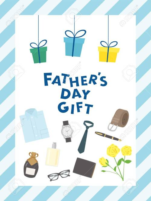 small resolution of father s day gift advertisement vector poster stock vector 99120754
