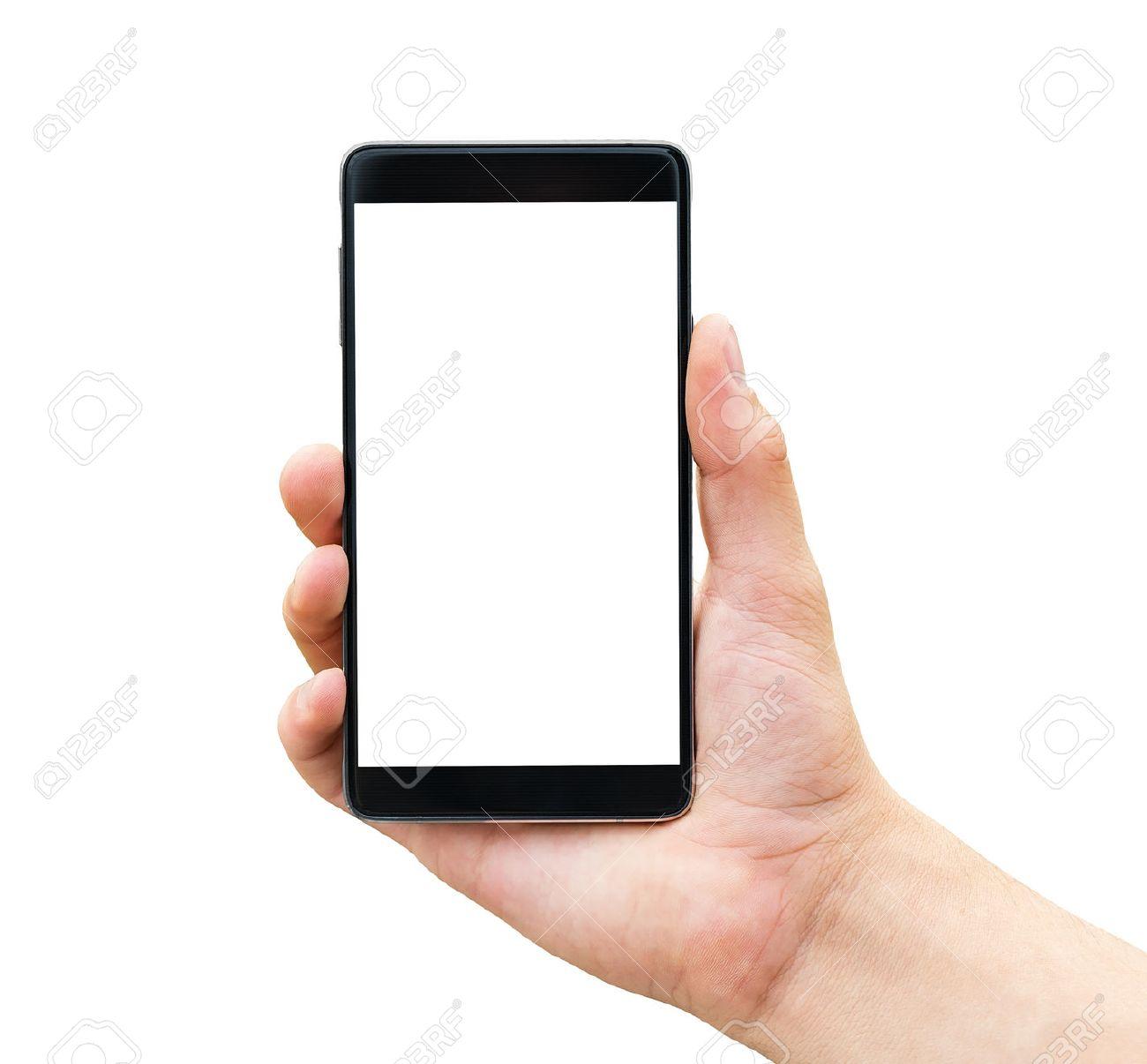 hand holding mobile smart