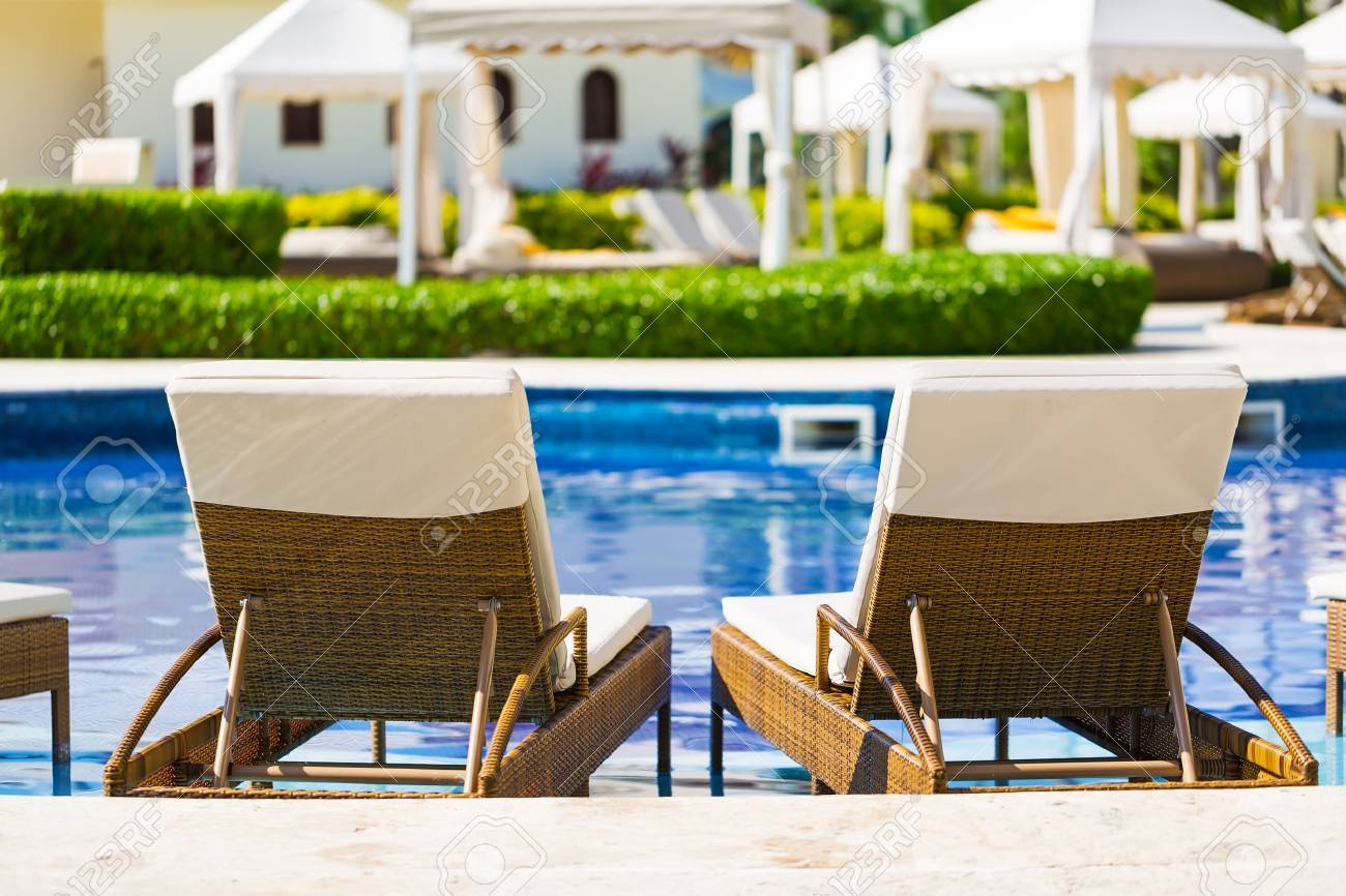 Chairs For Pool Resort Swimming Pool With Deck Chairs For Relaxation