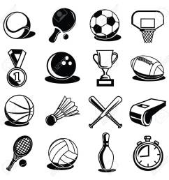 vector vector sport equipment and balls black icons set [ 1300 x 1300 Pixel ]