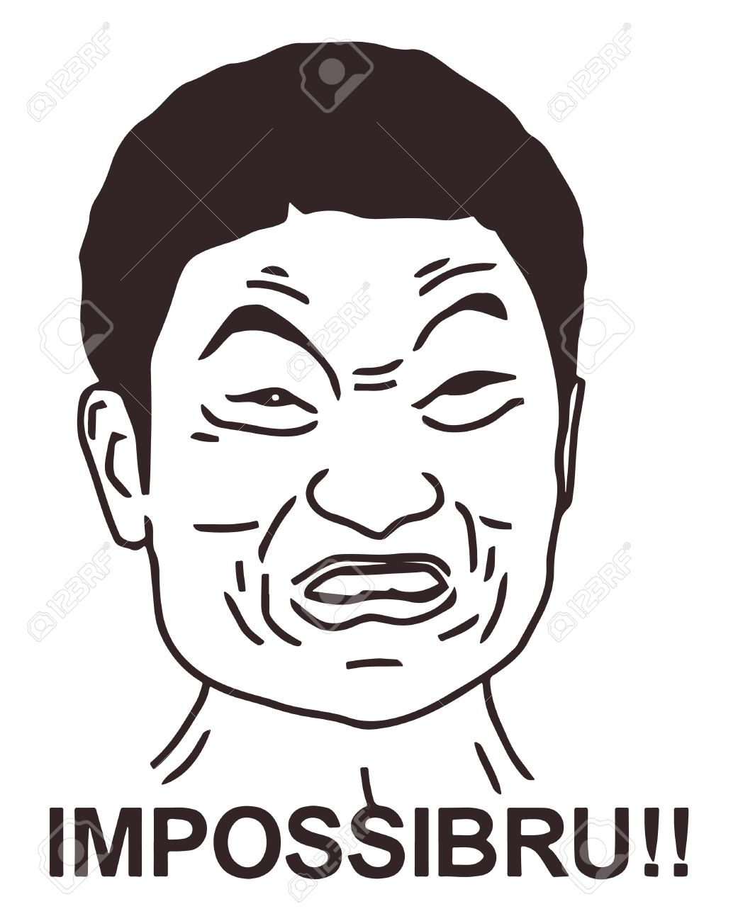 Meme Face Guy : Vector, Angry, Design., Isolated, Royalty, Cliparts,, Vectors,, Stock, Illustration., Image, 67808922.