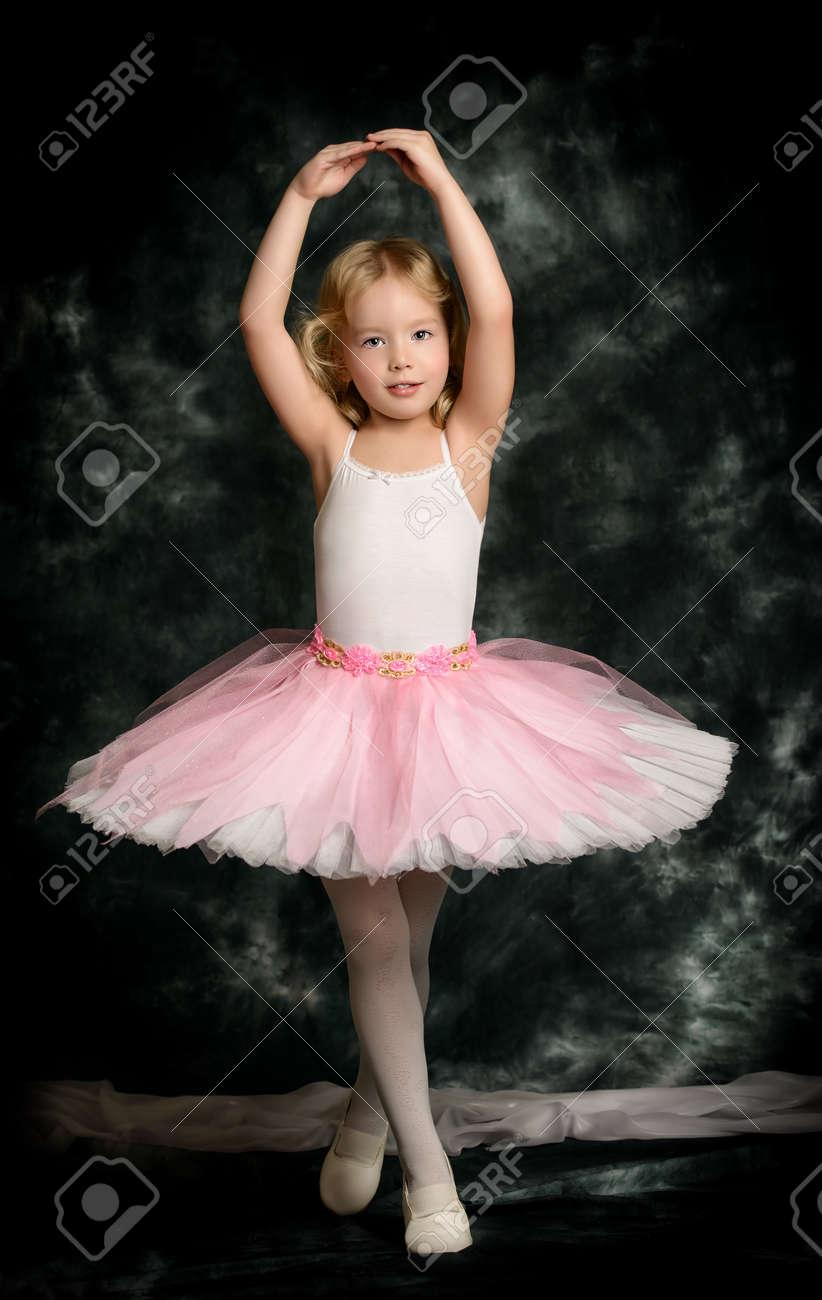 pretty little girl ballerina