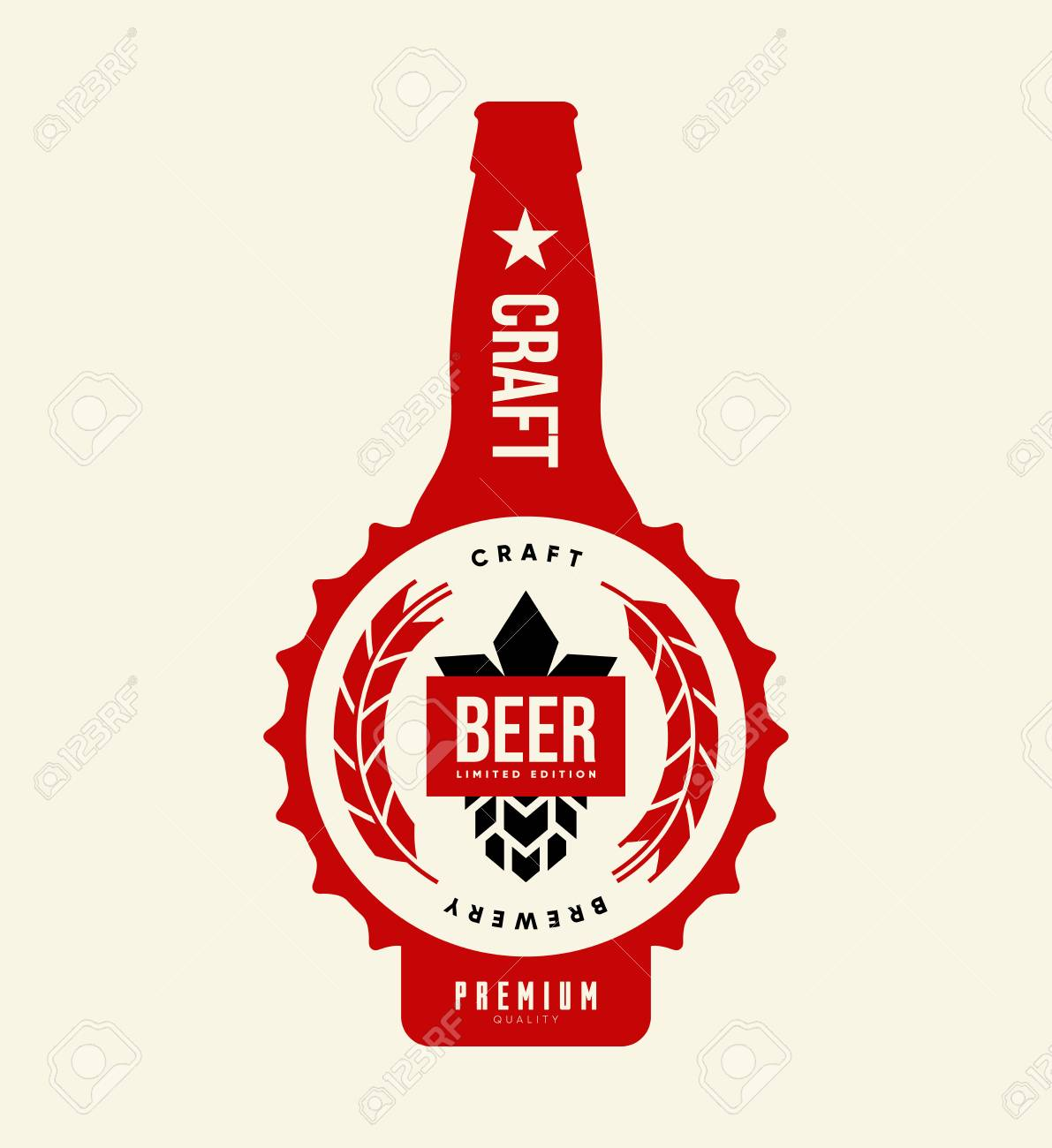 Modern Craft Beer Drink Isolated Vector Logo Sign Branding For Royalty Free Cliparts Vectors And Stock Illustration Image 102025060
