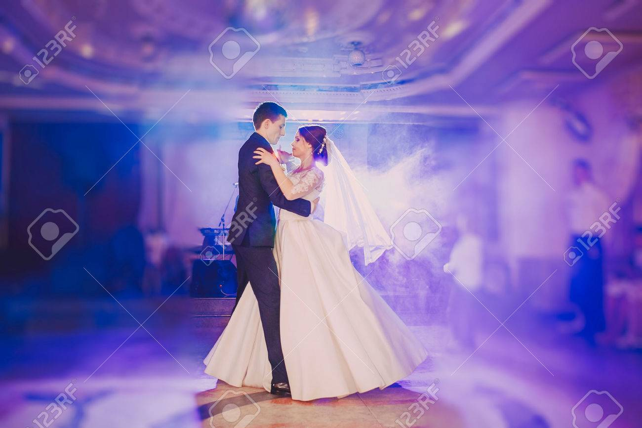 Romantic Couple Dancing On Their Wedding Hd Stock Photo Picture And Royalty Free Image Image 43987452