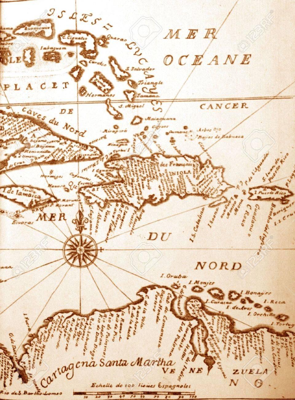 Ancient Basin Map : ancient, basin, Handwritten, Ancient, Caribbean, Basin, Stock, Photo,, Picture, Royalty, Image., Image, 3435907.
