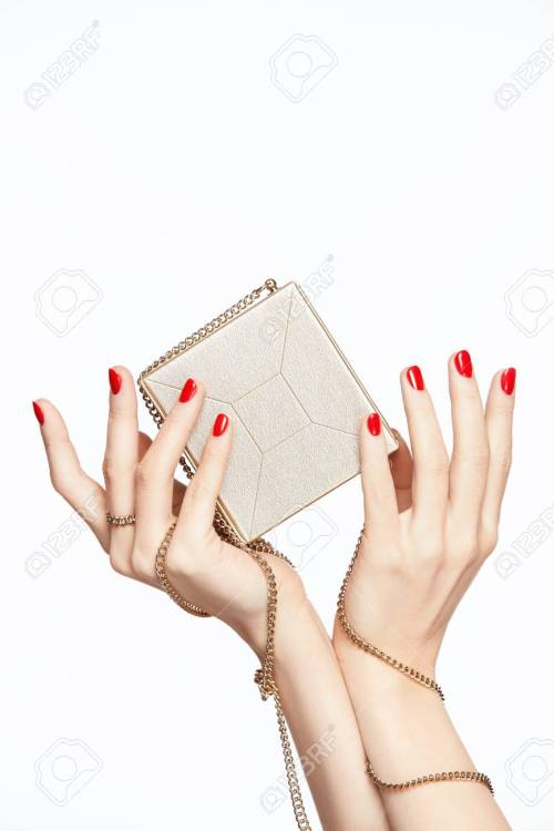 small resolution of female hands with red manicure close up of woman hands with red