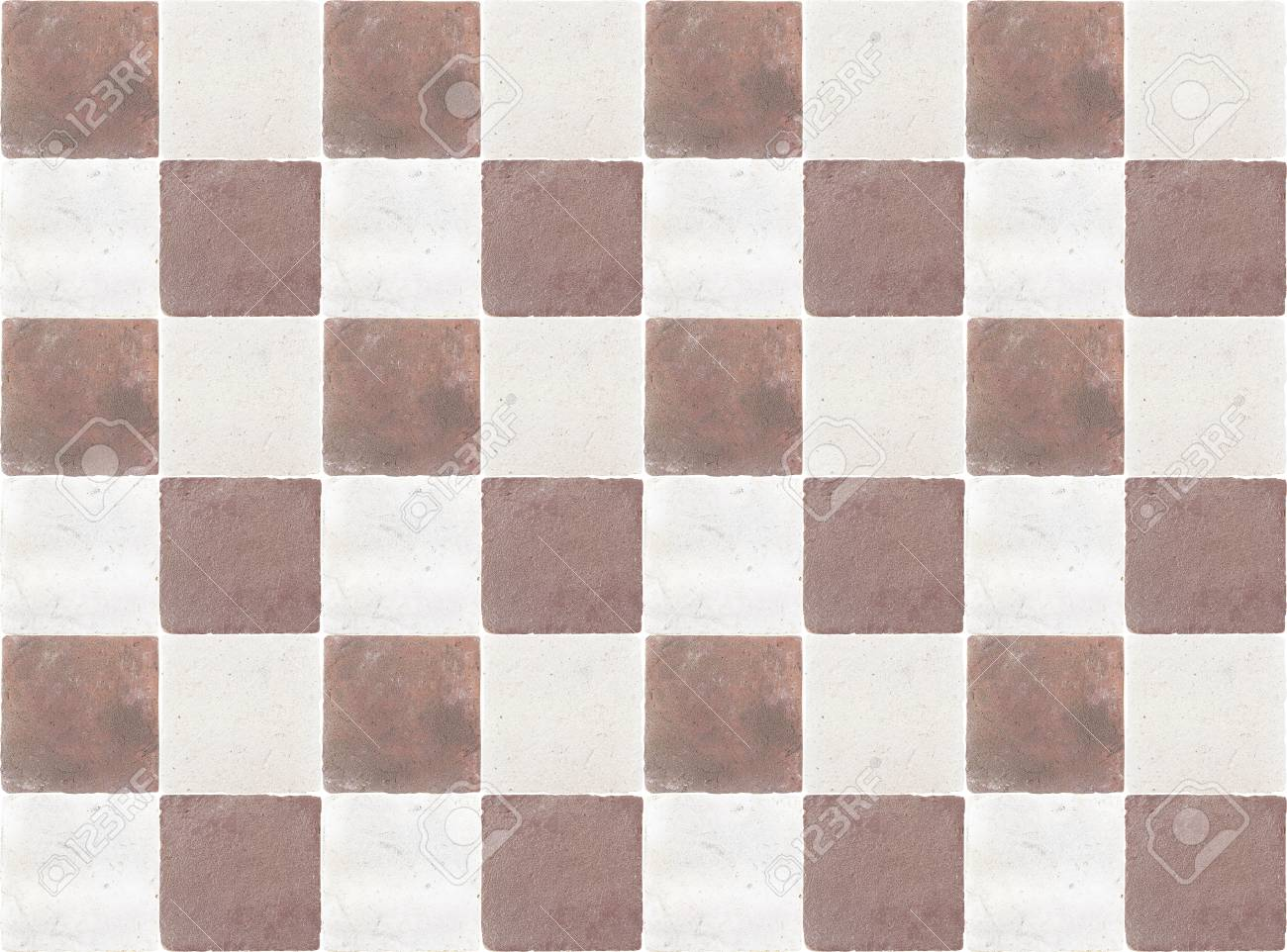 decorative white and brown painted ceramic wall mosaic tiles
