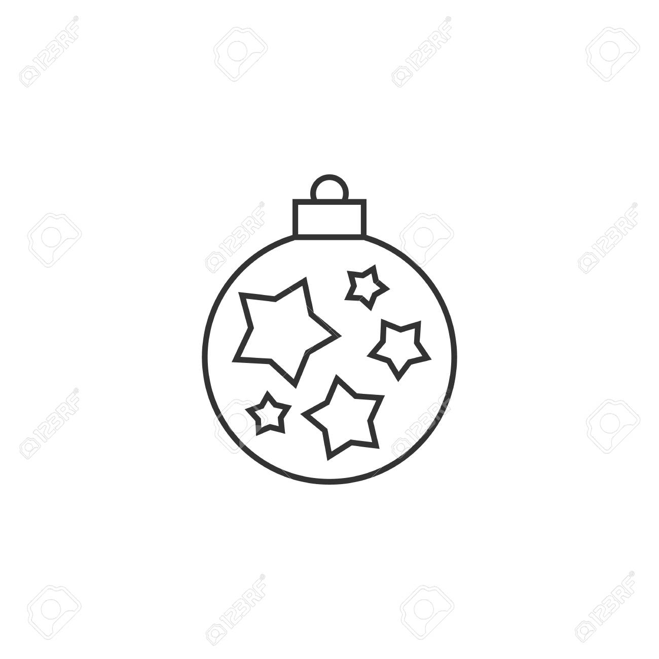 Vector Christmas Ornament Outline