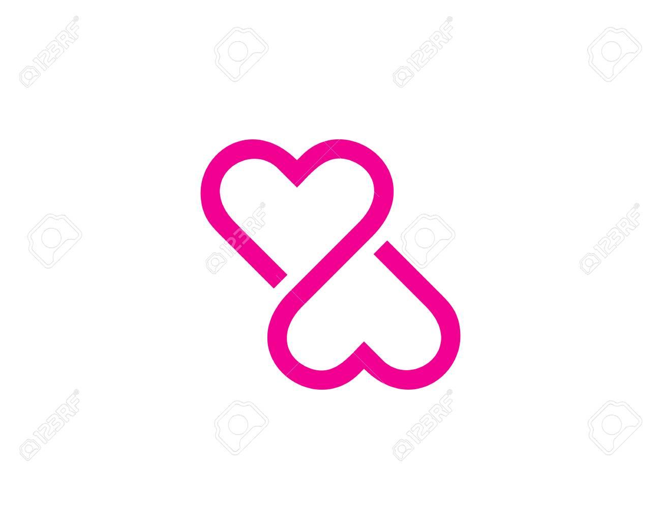 infinity love logo design
