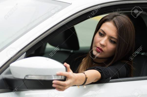 Image result for pictures showing drivers using car mirrors