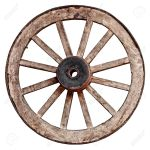Old Wooden Wagon Wheel Isolated On White Background Stock Photo Picture And Royalty Free Image Image 19743640