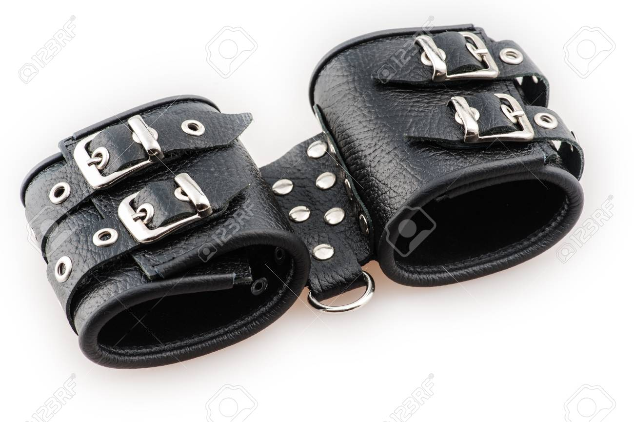 black professional handcuffs isolated