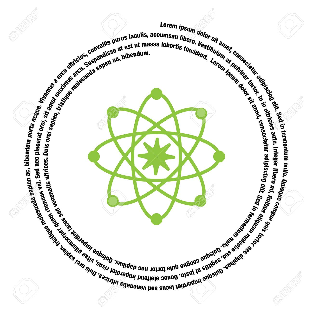 hight resolution of atom model vector icon stock vector 40759766