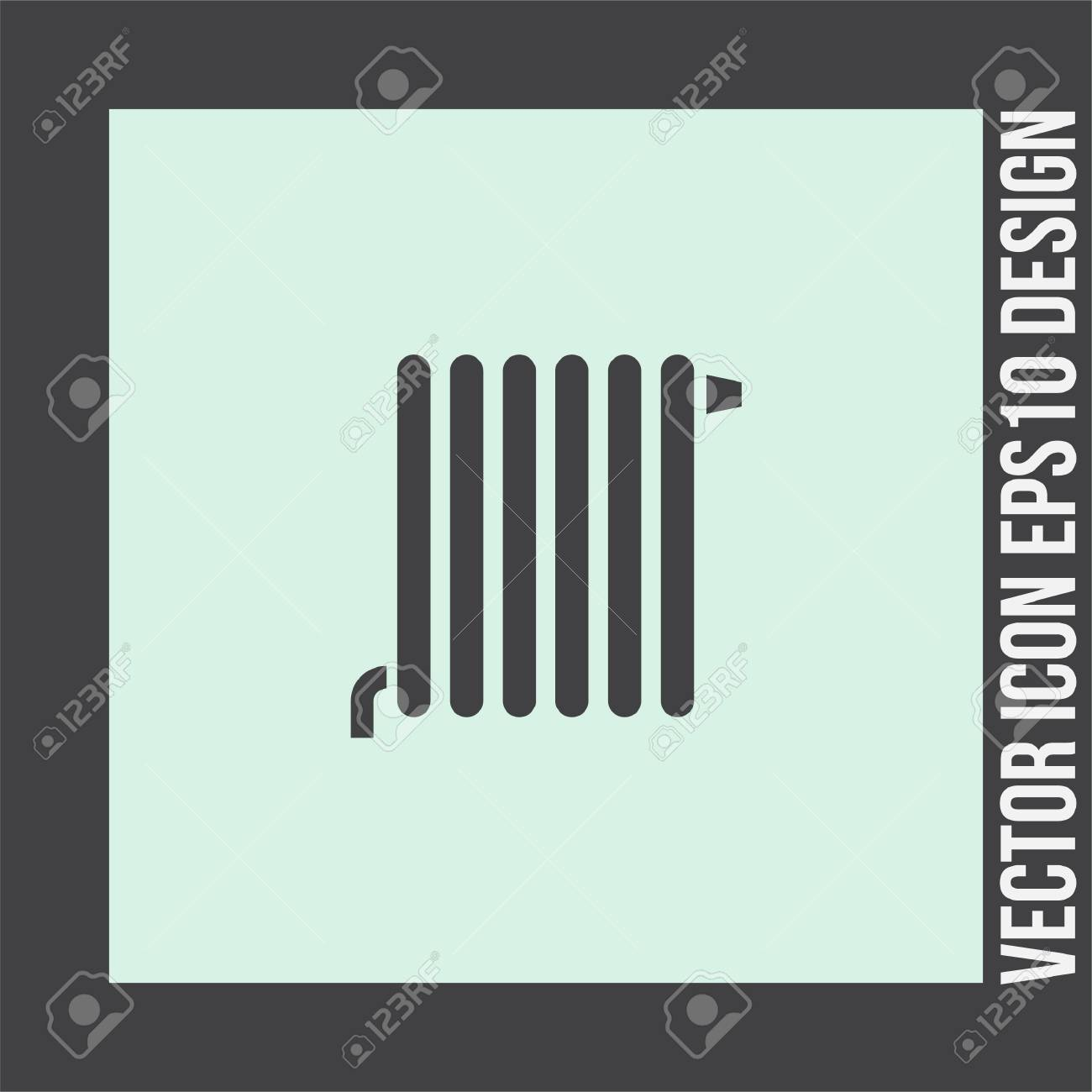 Sign For Bathroom Radiator Vector Icon Heating Device Sign Bathroom Dryer Symbol