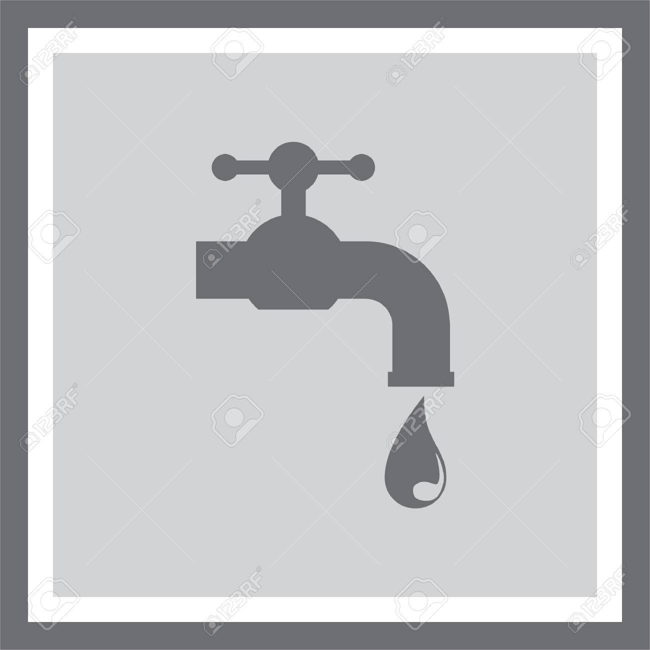 Sign For Bathroom Faucet Vector Icon Tap Sign Bathroom Symbol