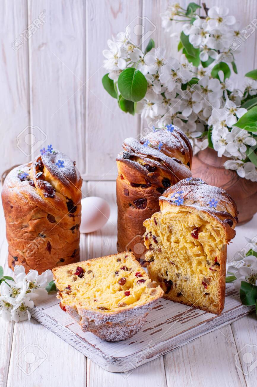 Traditional Easter Cake Craffin Kraffin With Powdered Sugar Stock Photo Picture And Royalty Free Image Image 137684006
