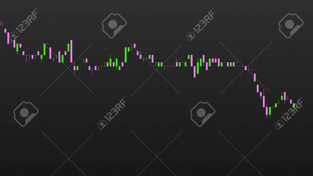 abstract financial trading graphs